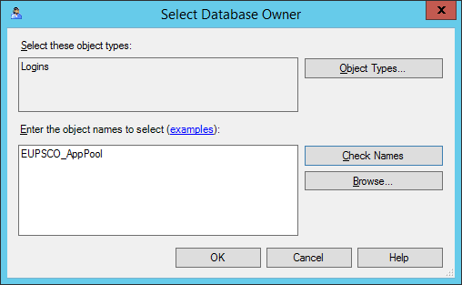 Select Database Owner