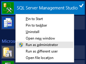SQL Server Management Studio