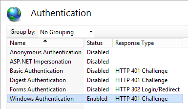 Website - Features View - Authentication Settings