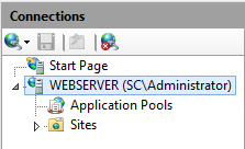 IIS Manager - Expand Server Node