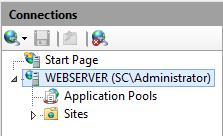 IIS Manager - Expand Server Node