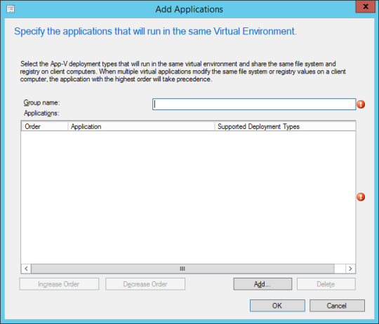 SCCM - Add Applications (Dialog)