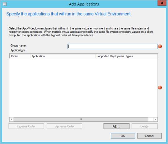 SCCM - Add Applications (Dialog)