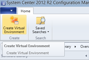 SCCM - Create Virtual Environment