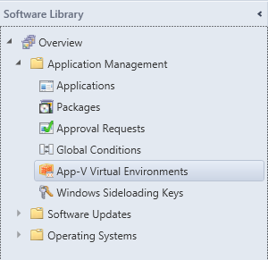 SCCM - Software Library - AppV Virtual Environments