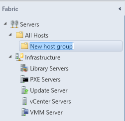 SCVMM - New Host Group Folder