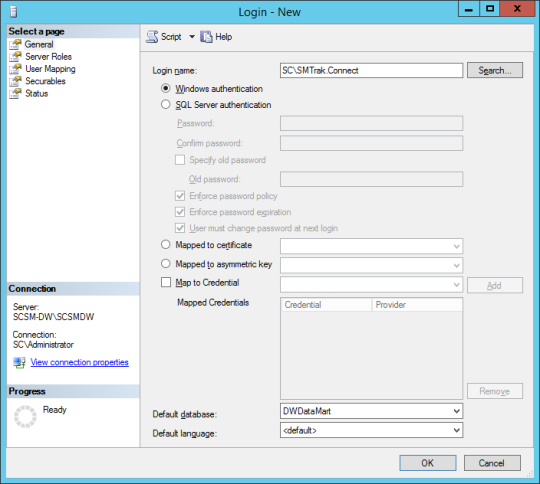 SQL Server - Login - New