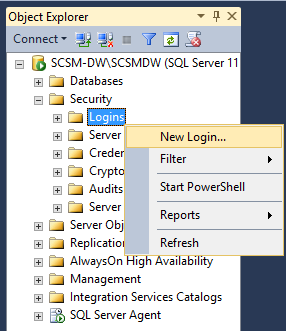 SQL Server - New Login