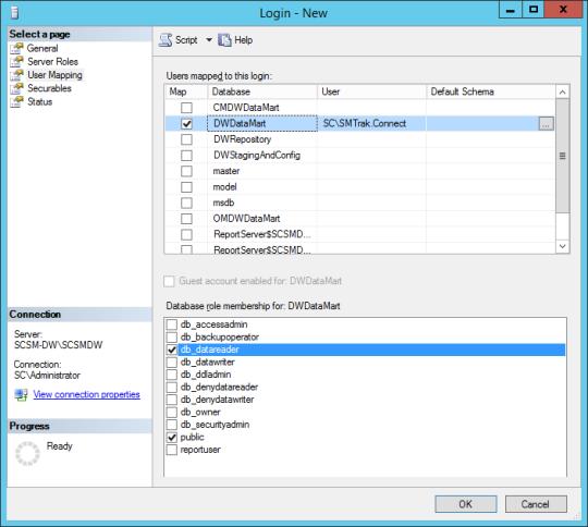 SQL Server - User Mapping