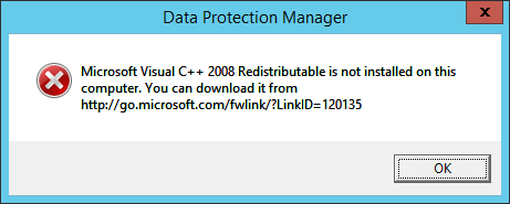 DPM Visual C++ Not Installed