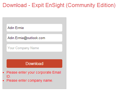 Expit Ensight - 04 - Required Information (Failed)