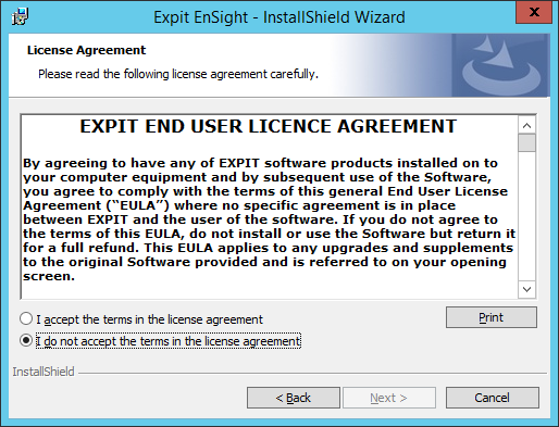 Expit Ensight - 12 - License Agreement