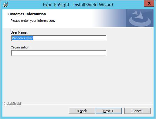 Expit Ensight - 13 - Customer Information