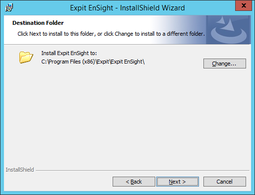 Expit Ensight - 14 - Destination Folder