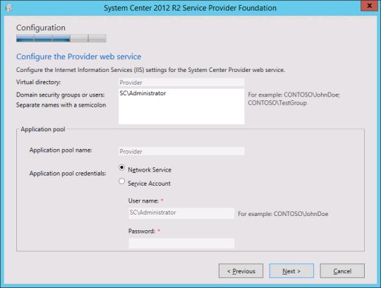 Install SPF - 09 - Provider Web Service