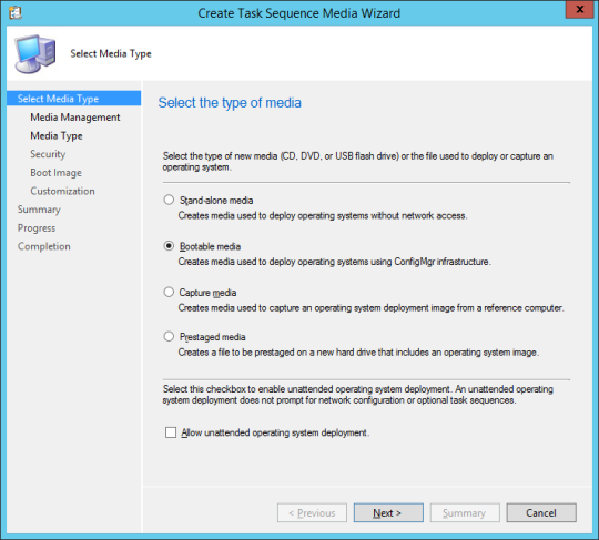 SCCM Boot Media - 03 - Select Media Type
