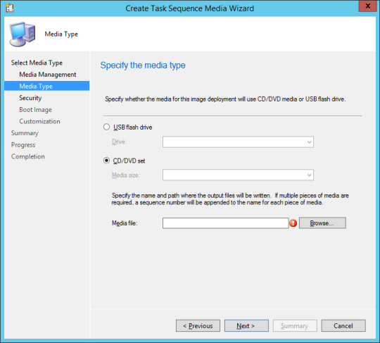 SCCM Boot Media - 05 - Media Type