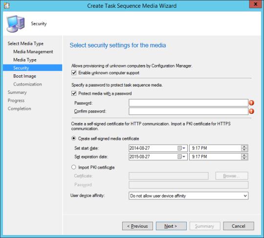 SCCM Boot Media - 06 - Security
