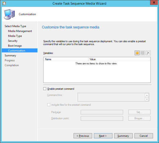 SCCM Boot Media - 08 - Customization