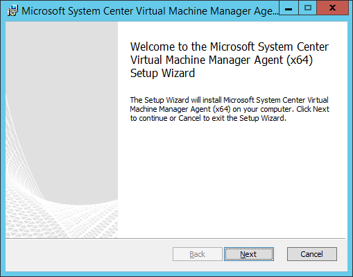 SCVMM Workgroup Host - 03 - Welcome Screen