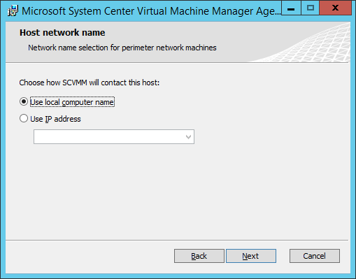 SCVMM Workgroup Host - 07 - Host Network Name