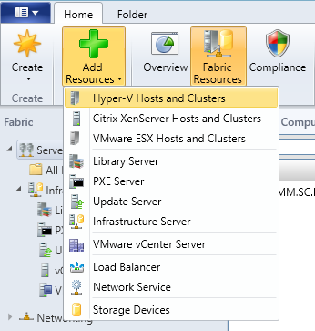 SCVMM Workgroup Host - 13 - Add Resources - Hyper-V Hosts and Clusters