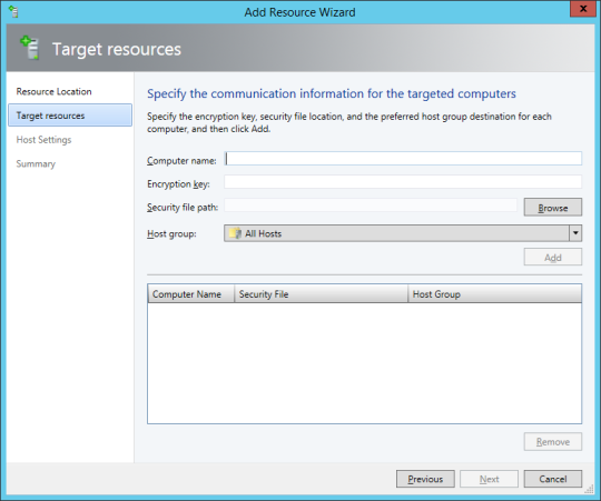 SCVMM Workgroup Host - 15 - Add Resources Wizard - Target Resources