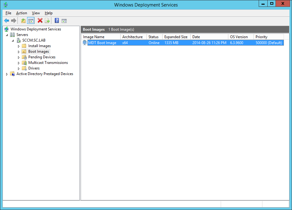 Using WDS to Deploy SCCM Images without PXE-Enabled DPs