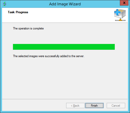 WDS - Add Boot Image - Task Progress