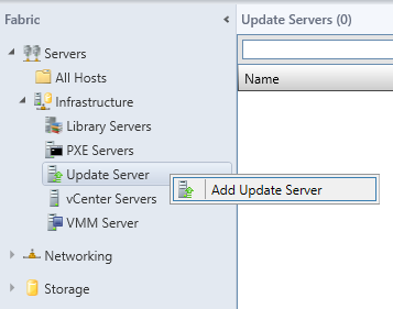 Add Update Server (Right-Click)