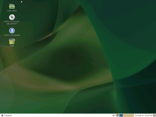 Config SUSE - 12 - Home Screen