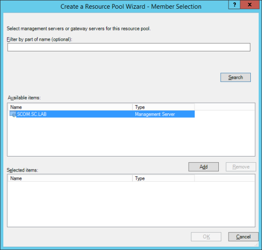 Create Resource Pool - 06 - Resource Pool Wizard - Member Selection