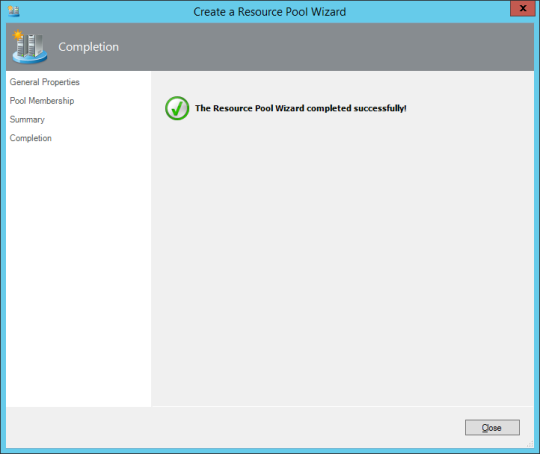 Create Resource Pool - 08 - Resource Pool Wizard - Completion