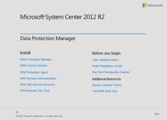 Install DPM12R2 - 01 - Splash screen