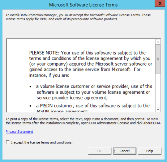 Install DPM12R2 - 02 - License Terms