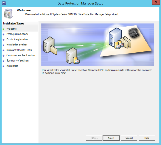Install DPM12R2 - 04 - Welcome