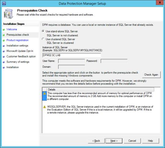 Install DPM12R2 - 06 - Prereq Check Pass