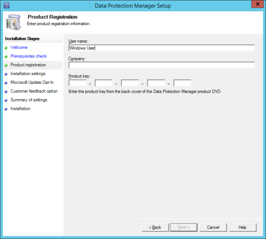 Install DPM12R2 - 07 - Product Registration