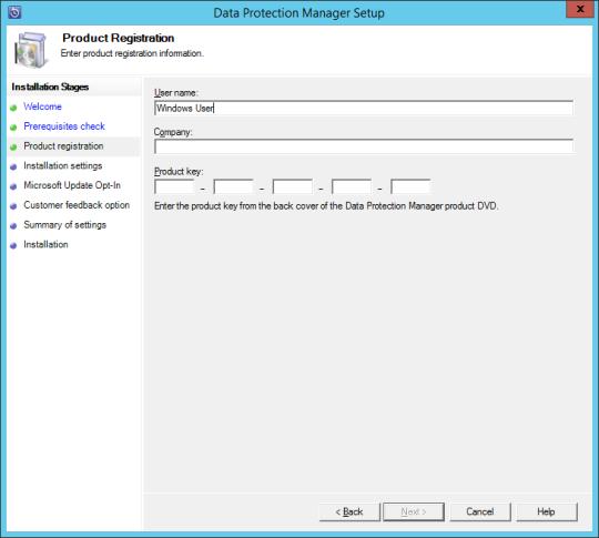 Install DPM12R2 - 07 - Product Registration