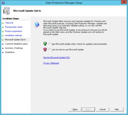 Install DPM12R2 - 09 - MS Update