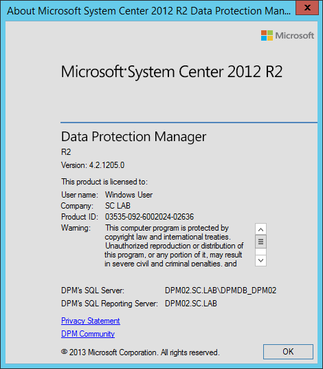 Install DPM12R2 - 14 - About DPM