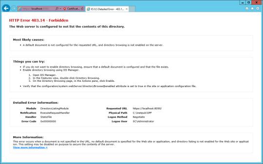 Install SPF - 16 - HTTP Error