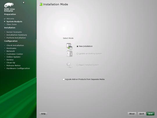 Install SUSE - 04 - Installation Mode