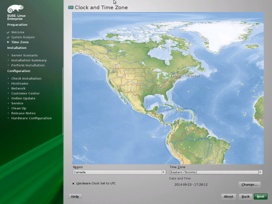 Install SUSE - 05 - Clock and Time Zone