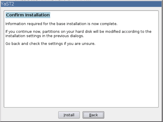Install SUSE - 09 - Confirm Installation