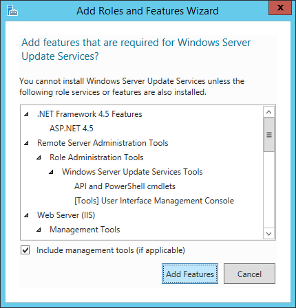Install WSUS - 06 - Add Features