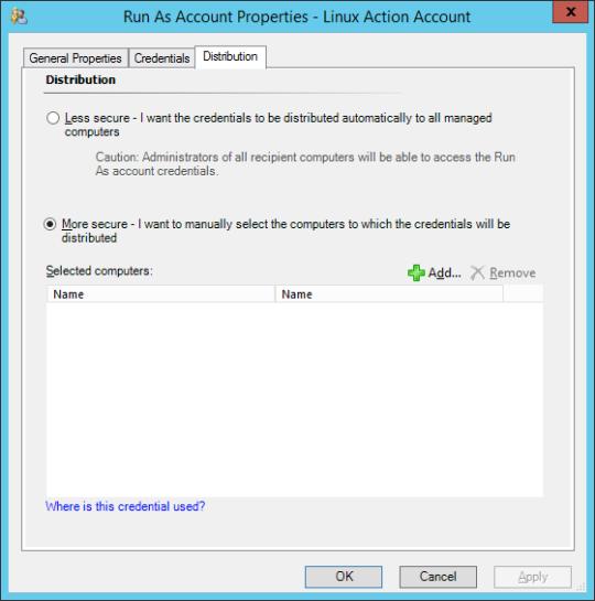 Linux Profiles - 07 - Run As Account Properties