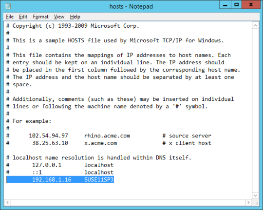 Name Resolution - 02 - Modified Hosts File