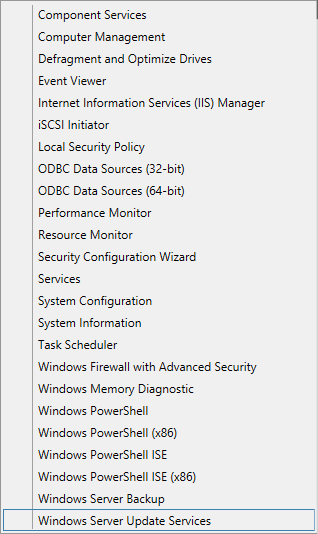Sync Updates - 01 - Launch WSUS Console