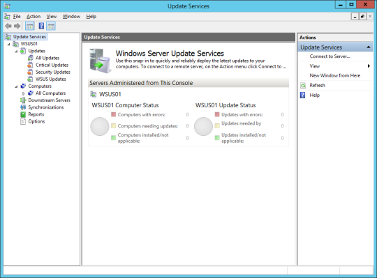 Sync Updates - 02 - WSUS Console